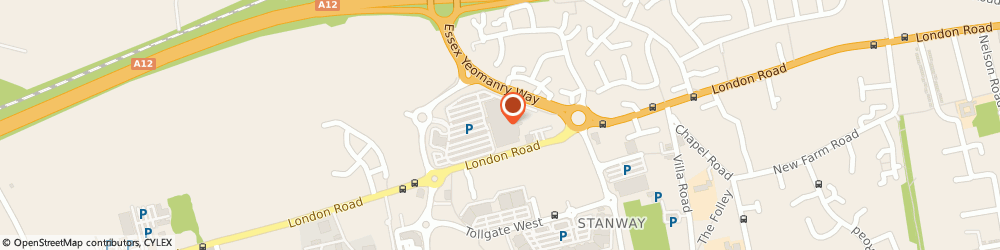 Route/map/directions to Sainsbury's, CO3 8AA Colchester, 1 Western Approach
