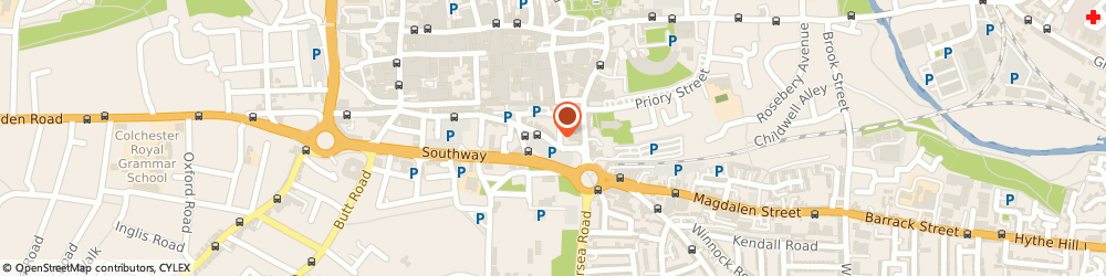 Route/map/directions to Health Oriental Massage, CO2 7DP Colchester, 5, Osborne Street