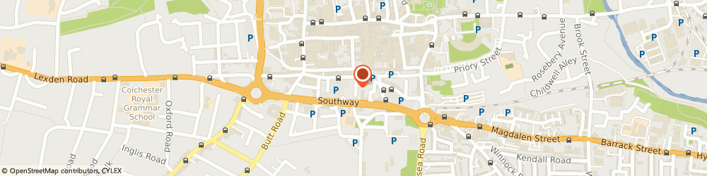 Route/map/directions to Rhapsody Hair & Beauty, CO2 7HB Colchester, 24 Abbeygate St