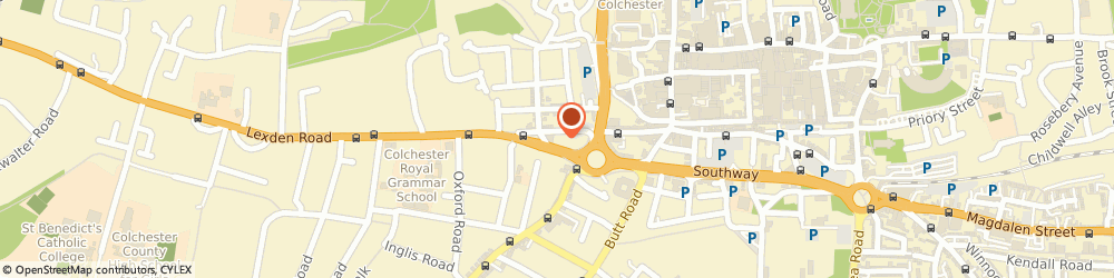 Route/map/directions to P C Allen, CO3 3HH Colchester, 42 Crouch Street