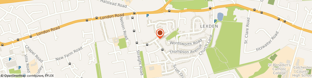 Route/map/directions to Evolution Fitness (Essex) Ltd, CO3 4HE Colchester, 14 CHAUCER WAY
