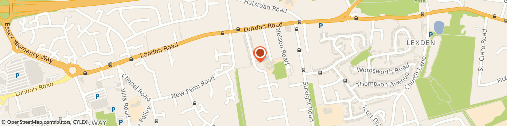 Route/map/directions to Minibus Services, CO3 9BH Colchester, 45, Collingwood Road