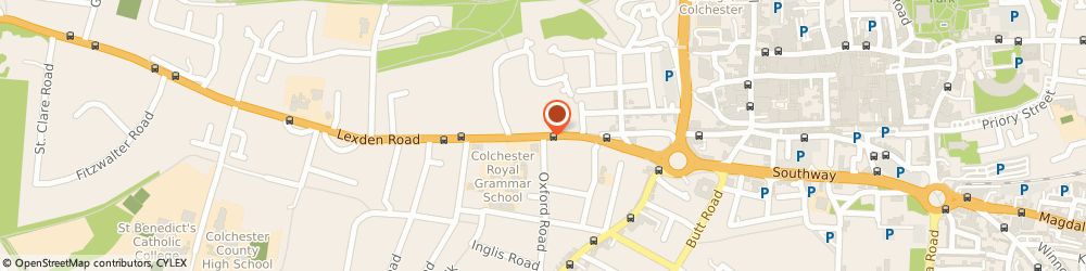 Route/map/directions to Breast Screening (Chelmsford & Colchester Service), CO3 3NB Colchester, Lexden Rd