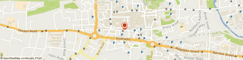 Route/map/directions to H & b, CO2 7AD Colchester, 39 TOWN CENTRE, ST JOHNS STREET