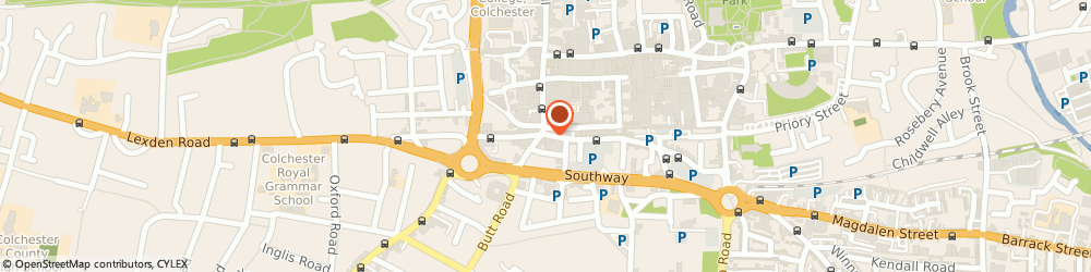 Route/map/directions to Red Cafe, CO2 7AA Colchester, 1 ST JOHNS STREET