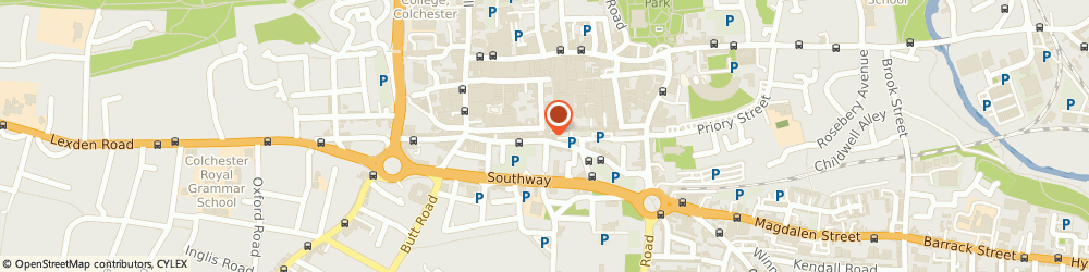 Route/map/directions to Cosmic Tattoo, CO2 7AS Colchester, 1-1a Scheregate