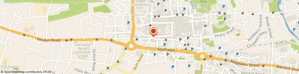 Route/map/directions to The Hearing Care Centre, CO1 1NU Colchester, 3B Headgate