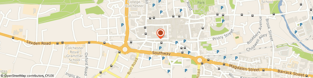 Route/map/directions to Scrivens Opticians & Hearing Care, CO1 1JJ Colchester, 35B Sir Isaacs Walk