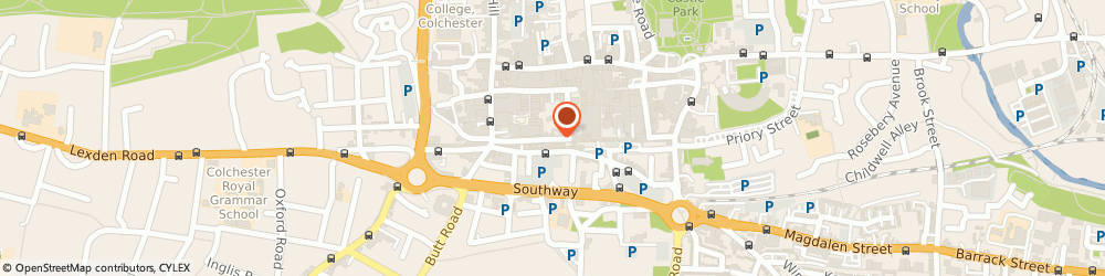 Route/map/directions to The Tea Rose Cafe, CO1 1JJ Colchester, 10 Sir Isaac's Walk