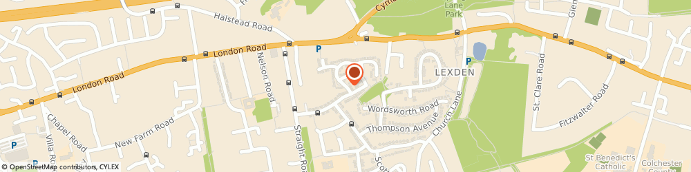 Route/map/directions to Your Pet Care Services, CO3 4HG Colchester, 7 Byron Avenue