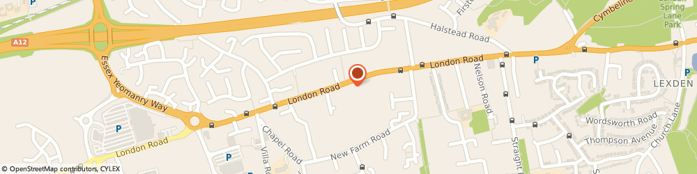 Route/map/directions to Eley Insurance Services Ltd, CO3 0NH Stanway, 19A London Road