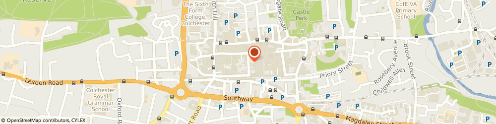 Route/map/directions to Tymperleys Clock Museum, CO1 1JN Colchester, Trinity Street