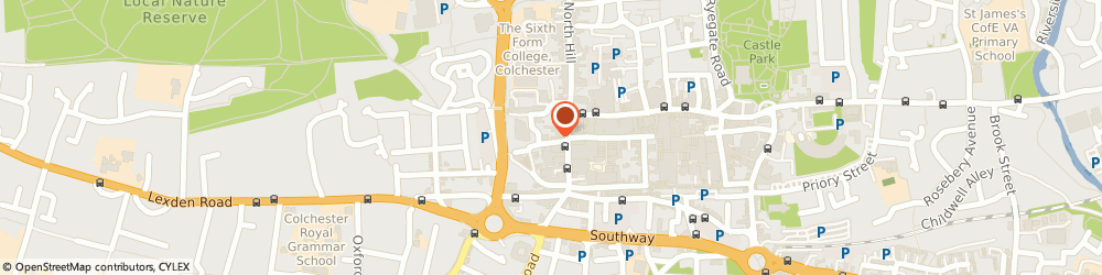 Route/map/directions to Mews Barbers, CO1 1NF Colchester, 2A Church Street