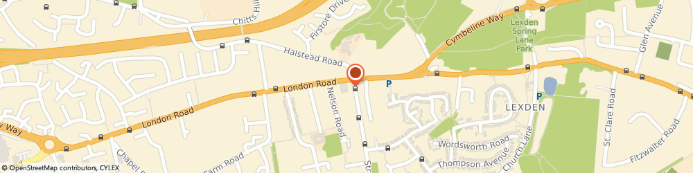 Route/map/directions to Kingsland Church, CO3 9DW Colchester, 86 London Rd