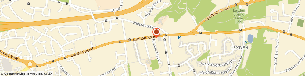 Route/map/directions to P J GAVIN LTD, CO3 9AP Colchester, 1B Nelson Road