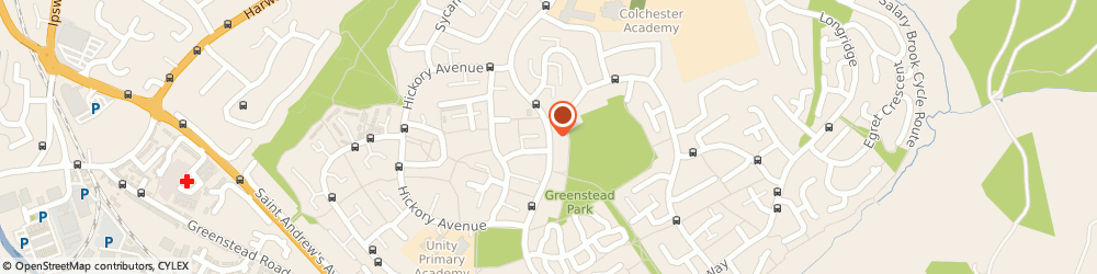 Route/map/directions to Greenstead Community Centre, CO4 3QE Colchester, Hawthorn Ave