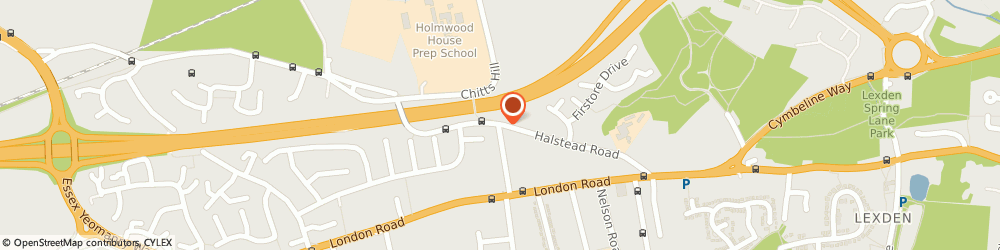 Route/map/directions to Cosgrove Lodge Nursery, CO3 9AD Colchester, 79, Halstead Road