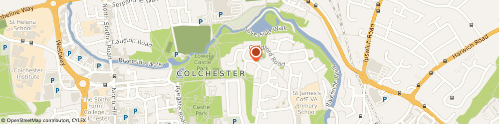 Route/map/directions to Edificio Developments Limited, CO1 2RH Colchester, 19 WORCESTER ROAD