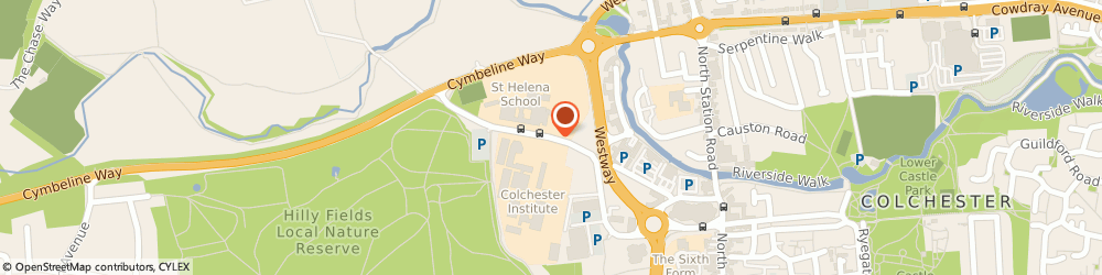 Route/map/directions to University Centre Colchester, CO3 3LL Colchester, Sheepen Rd