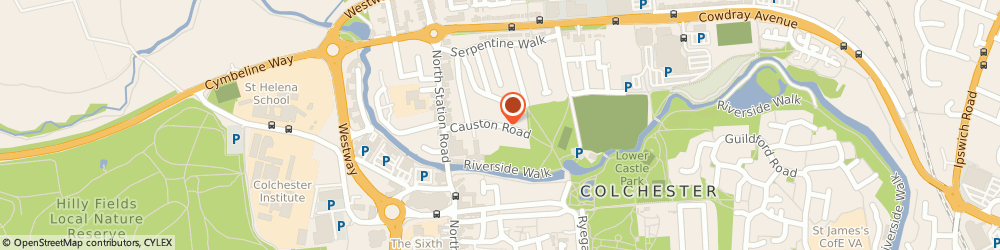 Route/map/directions to Allied Healthcare, CO1 1RJ Colchester, Causton Road