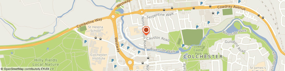 Route/map/directions to HSBC Bank, CO1 1SY Colchester, 26 North Station Road