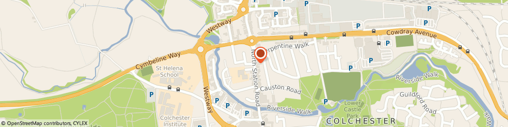 Route/map/directions to Pultrex Ltd, CO1 1PD Colchester, CENTURY HOUSE, NORTH STATION ROAD