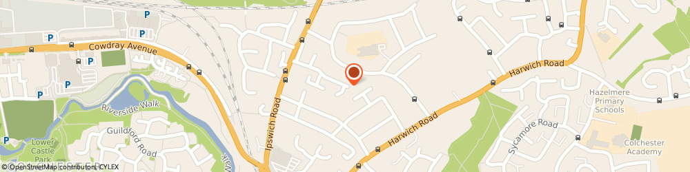 Route/map/directions to Complementary Therapist, CO4 0AH Colchester, 37 Valentines Drive