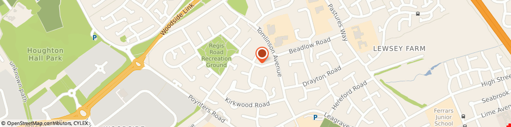 Route/map/directions to S & S Taxis, LU4 0RX Luton, 28 BRUNEL ROAD