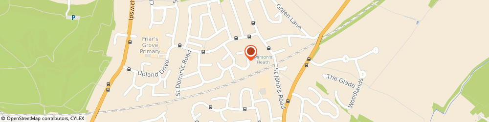 Route/map/directions to Linda Shipton School Of Dance, CO4 0PP Colchester, 34 ST JUDE CLOSE