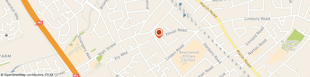 Route/map/directions to 42 Ltd, LU4 9RE Luton, 343 Beechwood Road