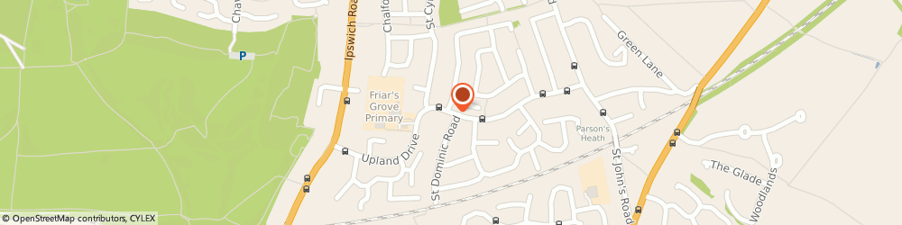 Route/map/directions to Martin The Newsagent, CO4 0NB Colchester, 54 ST CHRISTOPHER ROAD