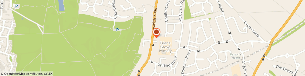 Route/map/directions to Elaine Harrison, CO4 0ES Colchester, Colchester Foot Clinic, 292, Ipswich Rd