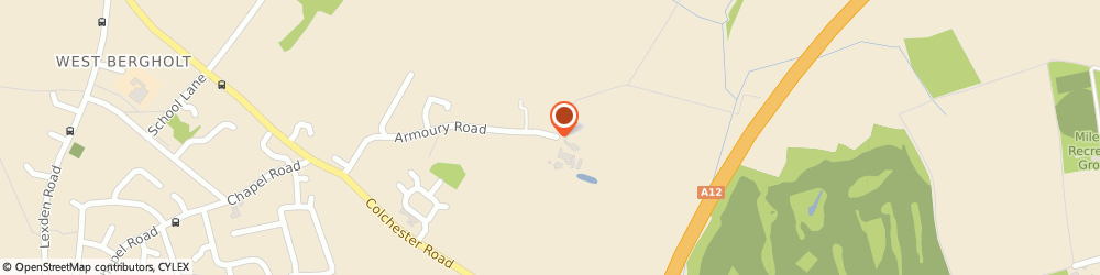 Route/map/directions to Armoury Farm Livery Stables, CO6 3JP Colchester, Armoury Road