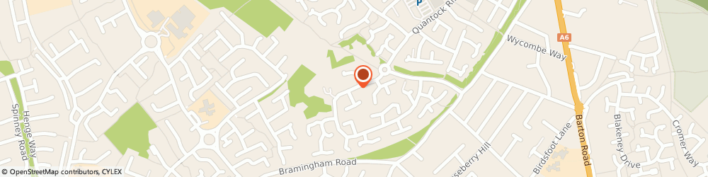 Route/map/directions to Little Bramingham Farm Residential Care Home, LU3 3XF Luton, Leamington Road
