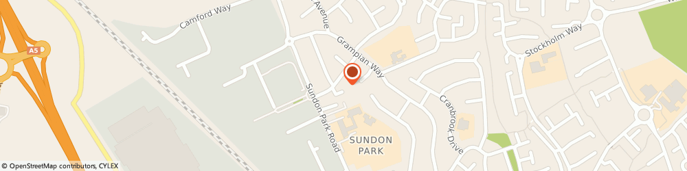 Route/map/directions to Rayners School of Dancing, LU3 3AU Luton, The Hall Ashwell Avenue