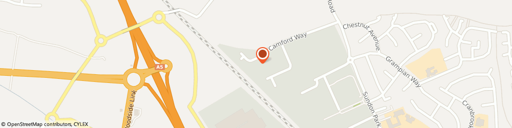 Route/map/directions to TNT Luton Depot, LU3 3AN Luton, 176 Camford Way