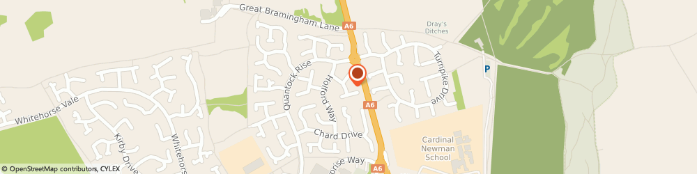 Route/map/directions to J F Barron Limited, LU3 4EJ Luton, 11 STATHAM CLOSE, BARTON HILLS