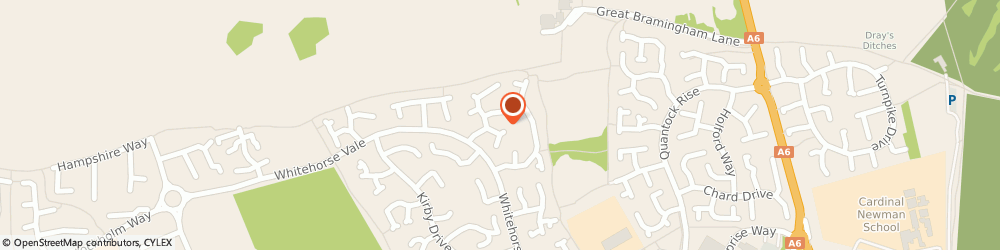 Route/map/directions to Paul McNamara Plumbing and Heating, LU3 4DR Luton, 70 Catesby Green