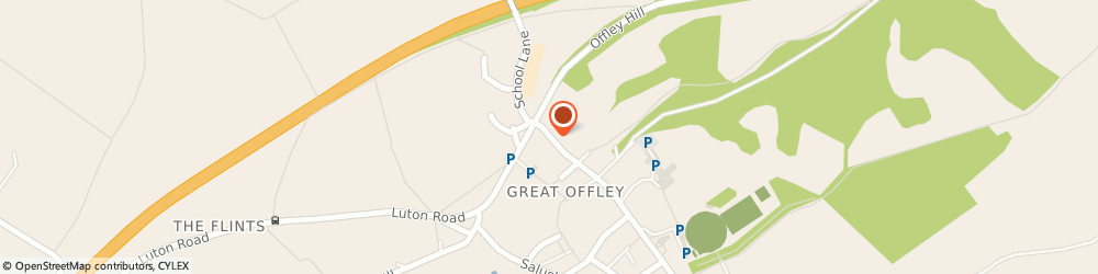 Route/map/directions to T.w Butchers, SG5 3AA Offley, HIGH ST