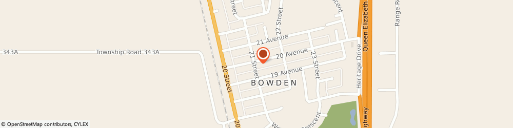 Route/map/directions to Bowden Medical Clinic, T0M 0K0 Bowden, 2101 20 AV