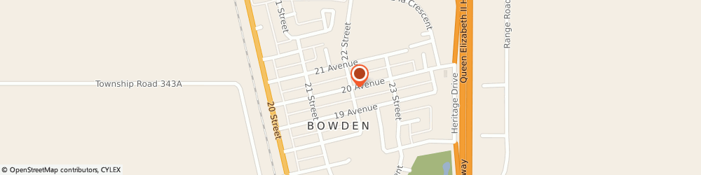 Route/map/directions to Bowden Physiotherapy Clinic, T0M 0K0 Bowden, 2023 20 Ave