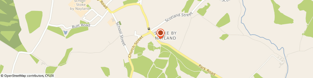 Route/map/directions to Royal Mail, CO6 4SE Colchester, Park Street, Stoke By Nayland