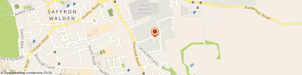 Route/map/directions to Debden Road Service Station, CB11 3AQ Saffron Walden, 15 B Shire Hill