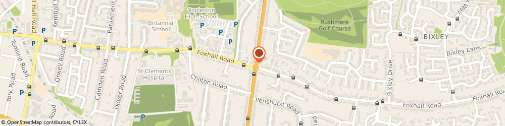 Route/map/directions to Foxhall Estate Agents, IP3 8ND Ipswich, 625 Foxhall Rd