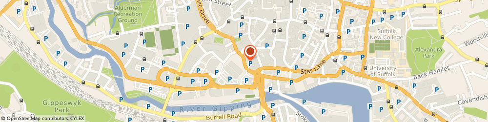 Route/map/directions to Aap, IP1 1UP Ipswich, 3 CROMWELL COURT GREY FRIARS ROAD