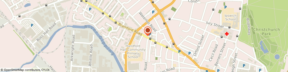 Route/map/directions to DAMP PROOFING SPECIALISTS, IP1 2LW Ipswich, 131 Bramford Road