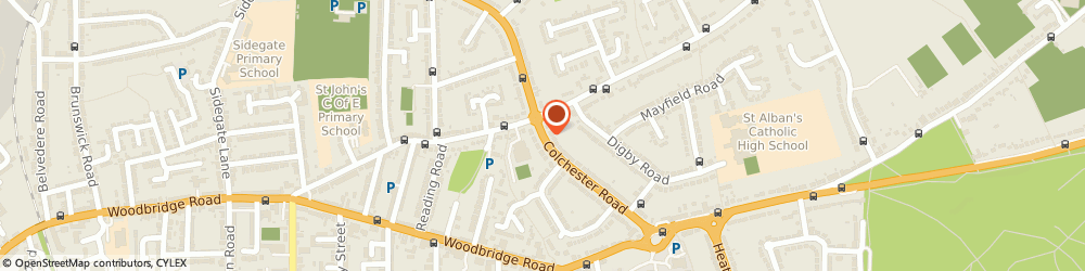 Route/map/directions to Marriage Sofa Design Ltd, IP4 4QX Ipswich, 270 COLCHESTER ROAD