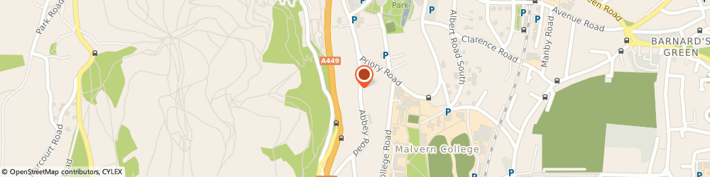 Route/map/directions to Playhouse Nursery, WR14 3HD Malvern, 24 Abbey Rd