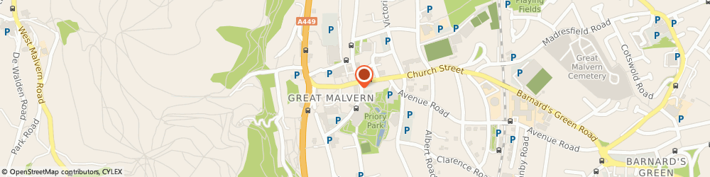 Route/map/directions to NatWest - MALVERN ATM, WR14 2ZF Malvern, 30 Church Street