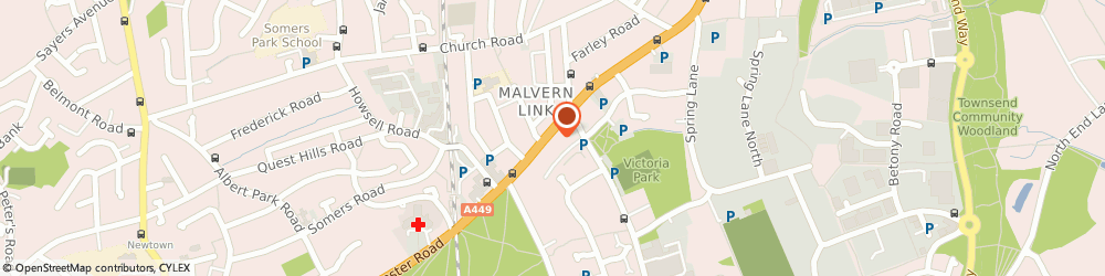 Route/map/directions to Not Just Cakes, WR14 1SS Malvern, 130 Worcester Rd